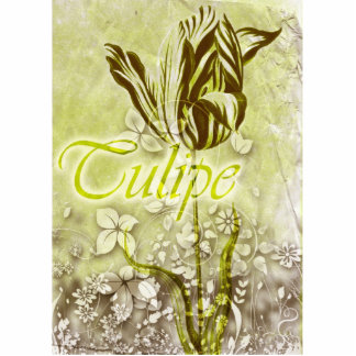 Tulipe Stående Fotoskulptur