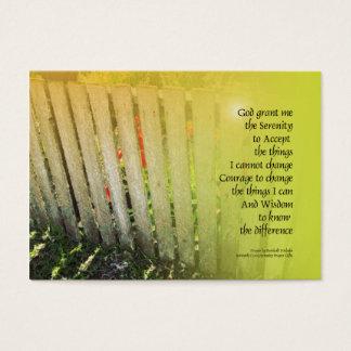 Tulpan för gammalt staket för Serenitybön röda Visitkort