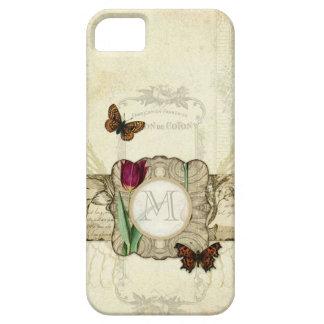 Tulpan för vingar för vintagefjärilsängeln virvlar iPhone 5 cover