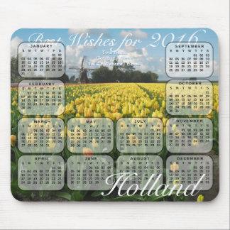 Tulpan sätter in den Holland 2016 kalendern Mus Mattor