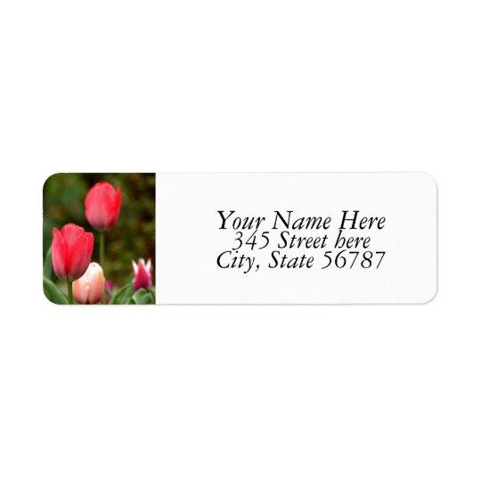 Tulpanfältreturetiketter Returadress Etikett