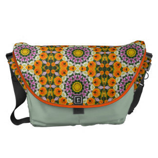 Tulpannatur, Blomma-Mandala Messenger Bag