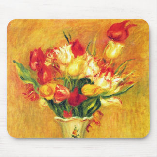 TulpanRenoir vintage blommar blom- Impressionism Musmatta