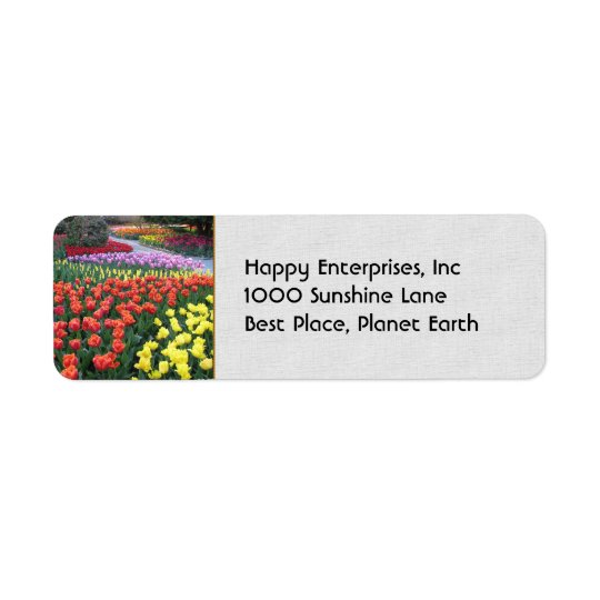 Tulpanträdgårdar Returadress Etikett