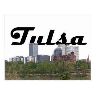 Tulsa reko horisont med Tulsa i himmelvykortet Vykort
