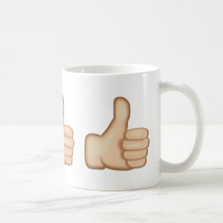 Tum undertecknar upp Emoji Kaffemugg