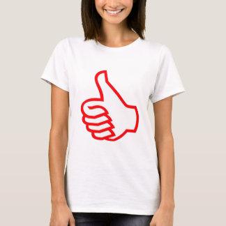 Tum up Thumbsup kvinna grundläggande T-tröja Tee Shirt