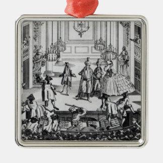 Tumult på Covent den trädgårds- theatren i 1763 Julgransprydnad Metall