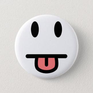 Tunga som ut klibbar ansikte standard knapp rund 5.7 cm