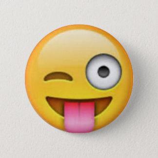 Tungan Emoji klämmer fast Standard Knapp Rund 5.7 Cm