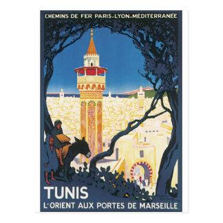 Tunis vintage resoraffisch vykort