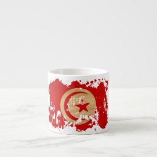 Tunisien flagga espressomugg