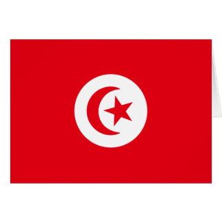 Tunisien flagga hälsningskort