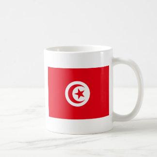 Tunisien flagga kaffemugg