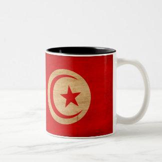 Tunisien flaggamugg Två-Tonad mugg