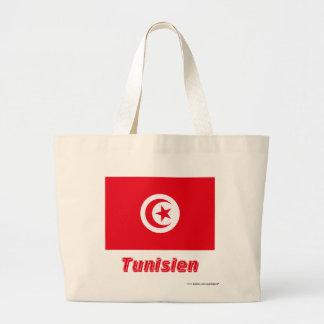 Tunisien Flagge mit Namen Kasse