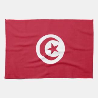 Tunisisk flagga kökshandduk