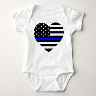 Tunn blålinjen - amerikanska flaggan tröja