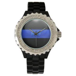 Tunn blålinjen - K9 Armbandsur