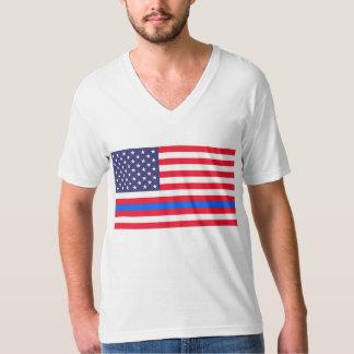 """TUNN BLÅLINJEN på FLAGGA "", T Shirt"