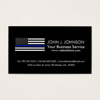 Tunn blålinjenamerikanska flaggan visitkort