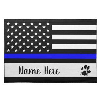 Tunn blålinjenhundbordstablett - polis bordstablett