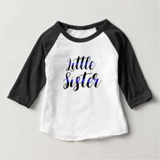 Tunn för blålinjen för systerRaglan lite T-shirts