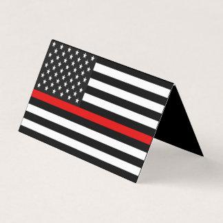 Tunn röd linjeamerikanska flagganminnesmärke kort