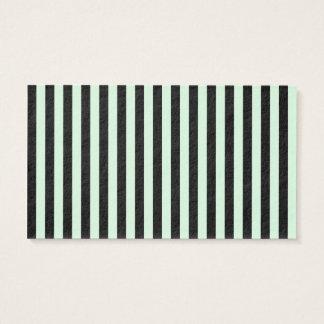 Tunna randar - svart- och pastellgrönt visitkort