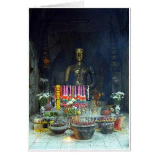 Tunnel Buddha Hälsningskort