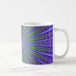 Tunnel för Fractal för abstrakt för lilor för Kaffemugg