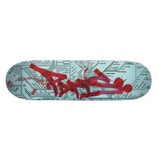 Tunnelbananmassaker - Paris karta Old School Skateboard Bräda 21,6 Cm