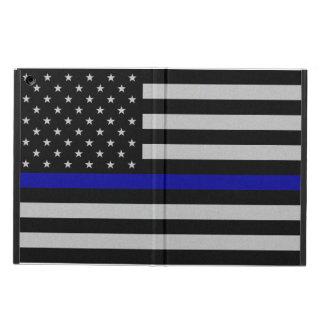Tunt fodral för luft för blålinjenflaggaiPad -