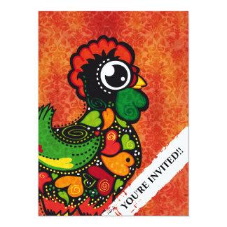 Tupp av Barcelos - vintagebakgrund 14 X 19,5 Cm Inbjudningskort
