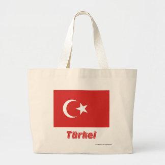 Türkei Flagge mit Namen Tygkasse