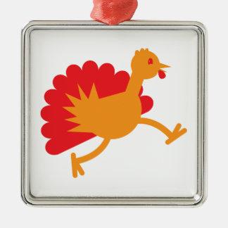 Turkiet fågel på springan! julgransprydnad metall