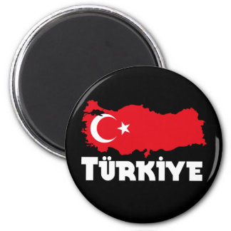 Turkiet T-tröja & gåvor Magnet Rund 5.7 Cm