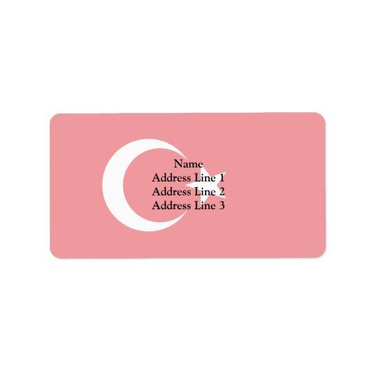 Turkiet Trinidad och Tobago flagga Adressetikett