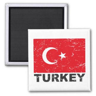 Turkiet vintageflagga kylskåpmagneter