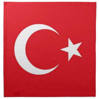 Turkisk flagga på den MoJo servetten Servett
