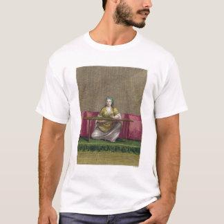 Turkisk flicka som broderar, 18th århundrade tee shirts