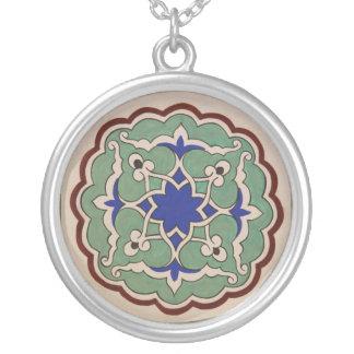 Turkisk Ottomanstil Silverpläterat Halsband