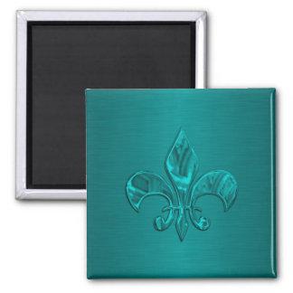 Turkos Fleur de Lis Magnet