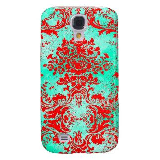 Turkos för vintage #2 för GC| iPhone 3G | & rött Galaxy S4 Fodral