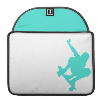 Turkos; Grön skater för blått Sleeve För MacBooks