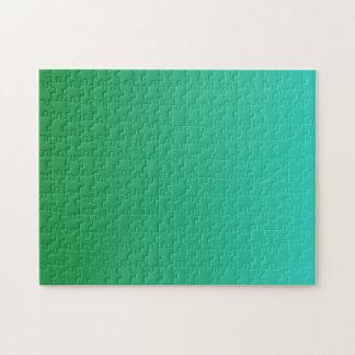 Turkos gröna Ombre Pussel