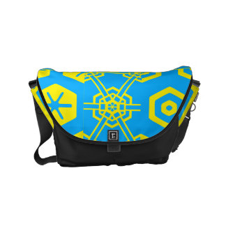 Turkos gul geometrisk 4Kirby Messenger Bag