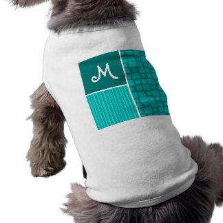 Turkos kvadrerar; Retro kvadrera Hund Tee Shirt
