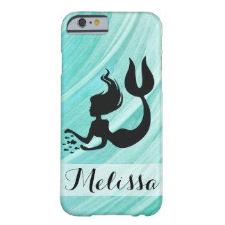 Turkos texturerad sjöjungfruSilhouetteiphone case Barely There iPhone 6 Skal