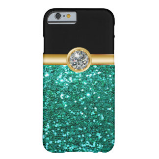 Turkosglitter Bling Barely There iPhone 6 Skal